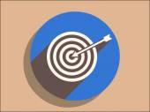 Flache Symbol des Zieles — Stockvektor