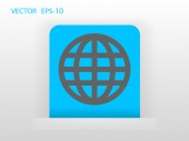 Flat icon of globe — Stock Vector