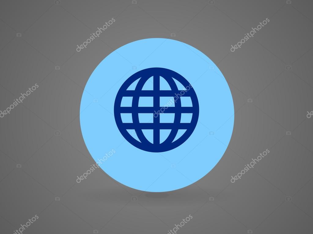 扁平的地球图标 图库 矢量