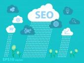 Website analytics search information concept — Stock Vector