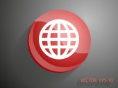 Icon of globe — Stock Vector