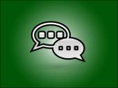 Flat icon of a communication — Stockvector