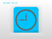 Flat icon of clock — Stok Vektör