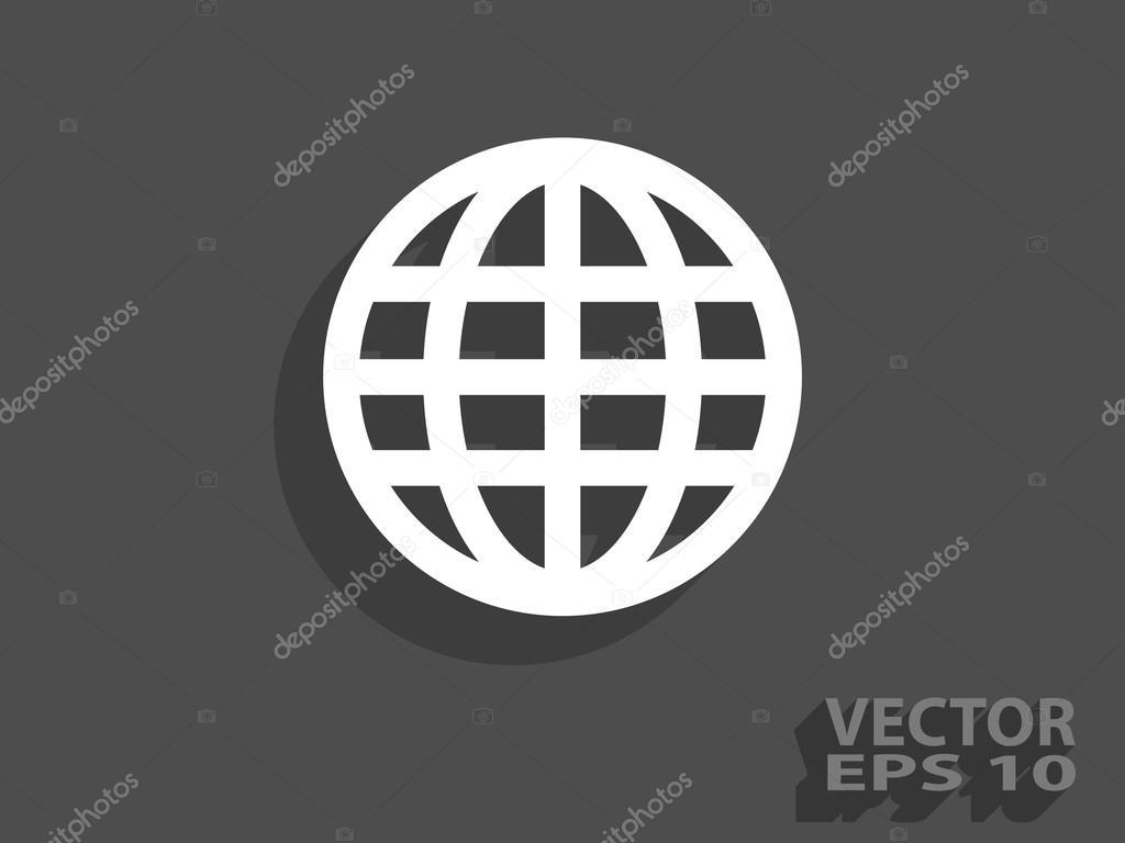 扁平的地球图标 — 图库矢量图片 #54692037