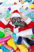 Plastic polluted Christmas — Stock Photo