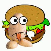 Little potato man junk food — Stockfoto