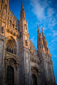Duomo of Milan - detail - tilt shift effect — Stock Photo