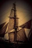 Ancient sailing ship — Stock Photo