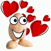 Маленький человек картофеля в любви — Стоковое фото
