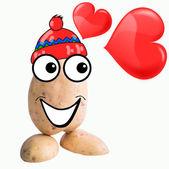 Little potato man in love — Stock Photo