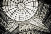 Dome of Galleria Vittorio Emanuele II, Milan Italy — Stock Photo