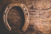 Horseshoes background — Stock Photo