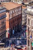 """MILAN, ITALY MARCH 27 2015: """"Palazzo della Ragione"""" in Mercanti street from Duomo roof terrace — Stock Photo"""