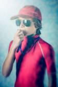 浜のライフガードの男の子 — ストック写真