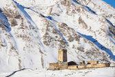 Svaneti church in Ushguli, Lamaria — Stock Photo