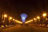 Abendspaziergang im Park und Riesenrad — Stockfoto