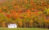 Barn at the foot hill — Stock Photo