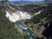 Yellowstone canyon — Stock Photo