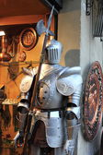 Medieval armor with halberd — ストック写真