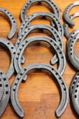 Metal horse shoes — Stock Photo