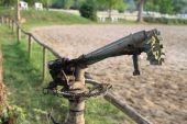 Metal watering crane — Stock Photo