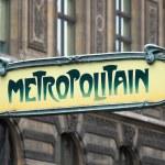 Metropolitain sign in Paris — Stock Photo #74261237