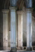 Typical medieval colonnade — Stock Photo