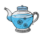 Teapot sketch, vector illustration — Wektor stockowy