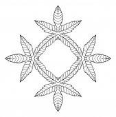 Plant leaves frame, vector illustration — Stock Vector