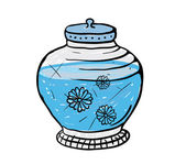 Pot with water, vector illustration — 图库矢量图片