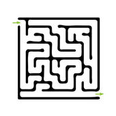 Labirinto nero vettoriale — Vettoriale Stock