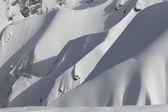 Snowy mountain slope — Stock Photo