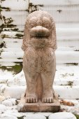 Statue of a lion-like creature in Thailand — Stock Photo