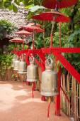 Bells in Wat Phan Tao, Chiang Mai, Thailand — Stock Photo