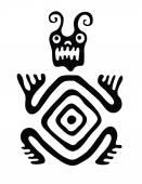 Canavar yerli tarzı, vektör çizim — Stok Vektör