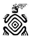 Monster in native style, vector illustration — Stock Vector
