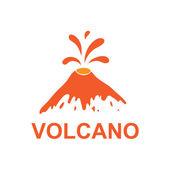 Eruption of a volcano, vector logo — Stock Vector