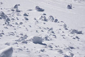 Clumps of snow, winter — Stock Photo