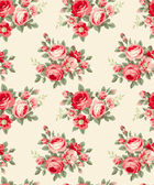 Pattern with vintage flowers — Stock Vector