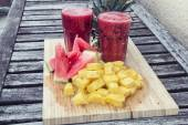 Smoothie of watermelon and pineapple — Foto de Stock