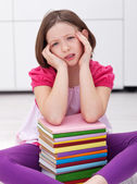 Young student with a headache — Stock Photo