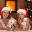 Christmas with our doggie — Stock Photo #57808493