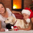Christmas with the family pets — Stock Photo #57808557