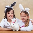 Kids with their favorite pet — Stock Photo #66968019