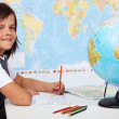 Young boy in geography class — Stock Photo #71033197