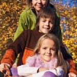 Autumn family portrait — Stock Photo #85028166