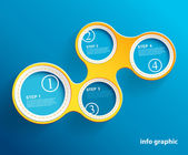 Info graphic circles with place for your text.  — Stock Vector