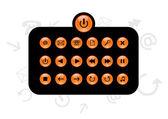 Set of info buttons. Vector — Stock Vector
