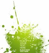 Green abstract illustration. Vector — Stock Vector