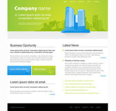 Website template with city. — Stock Vector